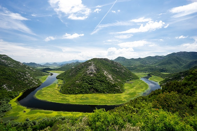 Skadar Lake in Montenegro